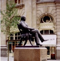 Image of Side Shot of George Peabody Statue