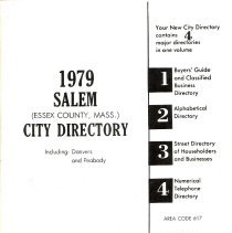 Image of 1979 Polk's City directory of Salem, Peabody, Danvers & Marblehead