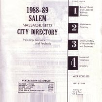 Image of 198-1989 Polk's City directory of Salem, Peabody, Danvers & Marblehea