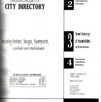 Image of F74.L98 A18 1989 - 1989 Greater Lynn City Directory Including Saugus, Swampscott, Nahant, Lynnfield and Marblehead
