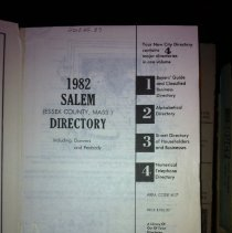 Image of F 74 .S1 A18 1982 - 1982 Polk's City directory of Salem, Peabody, Danvers & Marblehead