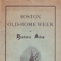 Image of Boston Old-Home Week Cover Page