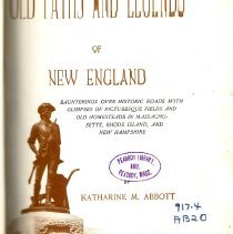 Image of Old Paths and Legends of New England