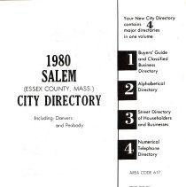 Image of 1980 Polk's City directory of Salem, Peabody, Danvers & Marblehead