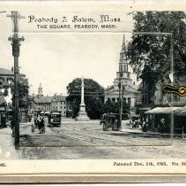 Image of Peabody & Salem, Mass. front postcard