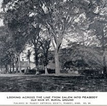 Image of Looking Across the Line from Salem into Peabody postcard