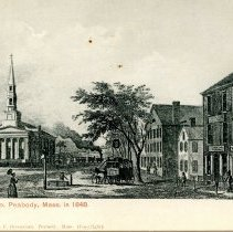 Image of Peabody Square in 1848 postcard