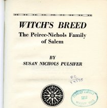 Image of CS 71 N6 1967 - Detailed biography of the Pierce-Nichols family through letters and brief biographies.