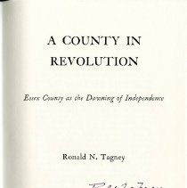 Image of F 72 E7 T33 1976 - History of Essex County during Revolution.