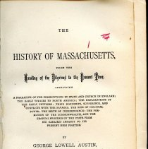 Image of F 64 A94 - History of Massachusetts from the arrival of the Pilgrims until 1876.