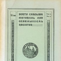 Image of F251 .N89112 - The North Carolina Historical and Genealogical Register -- April 1903 - Vol. 3 No. 2