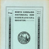 Image of F251 .N89112 - The North Carolina Historical and Genealogical Register - July 1901; Vol. 2 No. 3