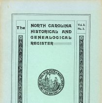 Image of F251 .N89112 - The North Carolina Historical and Genealogical Register -- April 1901 Vol. 2 No. 2