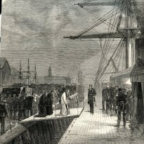 Image of Reception of Mr. Peabody's remains on board the Monarch in England