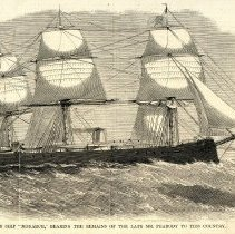 Image of H.B.M.S Monarch at Sea - January 15, 1870