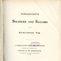 Image of E 263 M4 M4 v.7 - Alphabetical listing of soldiers and sailors of the Revolutionary War.