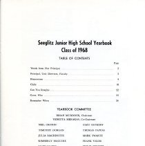 Image of Title Page for 1968 Seeglitz Junior High School