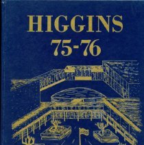 Image of Front Cover of Higgins Junior High School Yearbook for 1975-1976