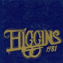 Image of Front Cover of 1980-1981 Higgins Junior High School Yearbook