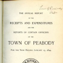 Image of Title page for Statement of Accounts for Peabody