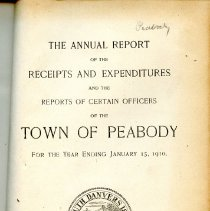 Image of Town Reports for Peabody