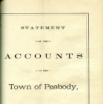 Image of Peabody Statement of Accounts for 1874