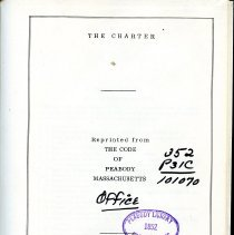 Image of Title Page to City Charter