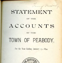 Image of Title Page for Statement of Accounts