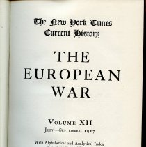 Image of D 509 E95 v.12 - Chronological account of WWI, according to witnesses at the time. 