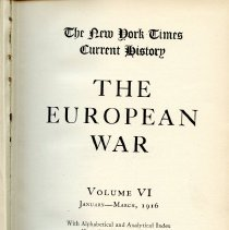 Image of D 509 E95 v.6 - Chronological account of WWI, according to witnesses at the time.  Includes Alphabetical and Analytical Index, as well as illustrations, maps and diagrams.