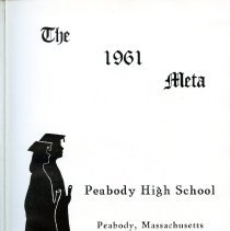 """Image of Title page for 1961 Peabody High School yearbook -- """"The Meta"""""""