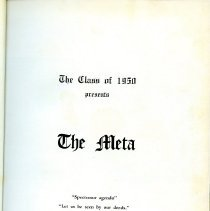 Image of Title page for 1950 Peabody High School yearbook