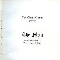 "Image of Title page for 1945 Peabody High School Yearbook ""The Meta"""