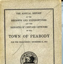 Image of Cover of Town Report for 1915