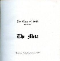 Image of LH 1 .M6 1948 - 1948 Peabody High School Yearbook (META)