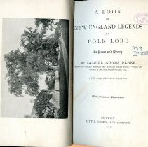 Image of F5 .D7625 - A Book of New England Legends and Folk Lore in Prose and Poetry coves all the New England states along with various town and cities within each state.  <iframe src='https://archive.org/stream/bookofnewengland00dra?ui=embed#mode/1up' width='480px' height='430px' frameborder='0' ></iframe>