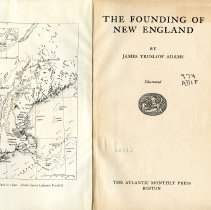 Image of F7 .A22 - The Founding of New England book explores the history of New England from a social and political stand point.