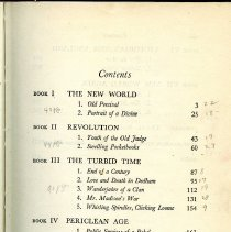 Image of Table of Contents Page 1