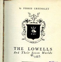 Image of The Lowells title page