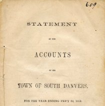 Image of Statement of Accounts for 1858 South Danvers