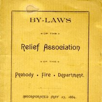 Image of Front Cover for By-Laws of Relief Association - 1884