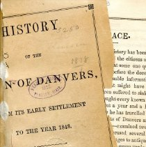 Image of F 74 D2 H2 c.3 - History of Danvers from beginning to 1848.