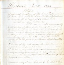 Image of Records of School District Eleven 1844-1857