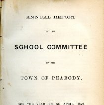 Image of Reports Peabody Schools -1869-1891