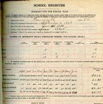 Image of School Register for 1933-1934