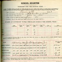 Image of School Register for 1934-1935