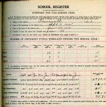 Image of 1935-1936 School Register