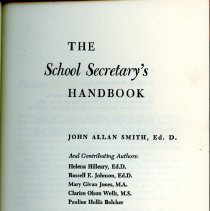 "Image of Title Page for ""The School Secretary's Handbook"""