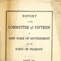 Image of Report of the Committee of 15 on New Form of Gov. for the Town of Peabody