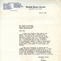 Image of Letter from James R. Reynolds - 1946
